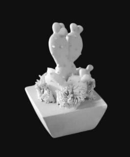 Pala fico I Mis  base quadrata h 10 cm, diam. 6,5 cm   Semilavorati in ceramica