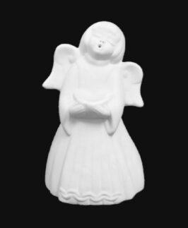 Angelo candeliere h 10 cm   Semilavorati in ceramica