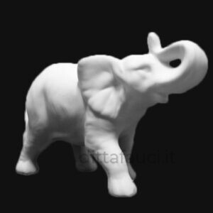 Elefante in terraglia bianca