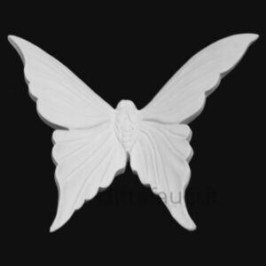 farfalla in terraglia bianca