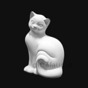 gatto in terraglia bianca